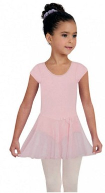 capezio 3966c child short sleeve nylon dress