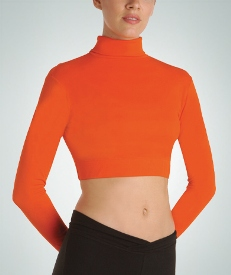 body wrappers 106 child long sleeve turtleneck midriff pullover