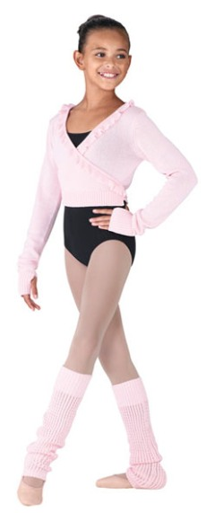 bloch cz6549B long sleeve wrap jumper