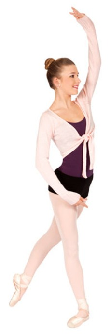 bloch z0969 adult crop tie front shrug