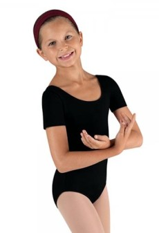 bloch cl5402 childrens short sleeve leotard