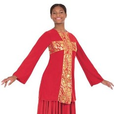 eurotard 49893 adult revival collection cross praise top