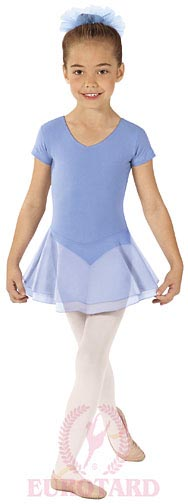 eurotard 10467 child short sleeve skirted leotard