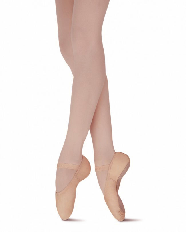 capezio 207 gracie full sole leather ballet slippers