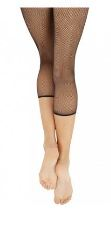 capezio 3409c child crop studio fishnet seamless tights