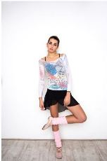 amb design isad10 isadora paris je t'aime long sleeve top