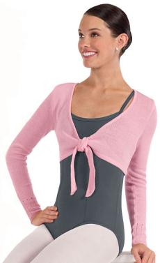 eurotard 72520 crop tie sweater
