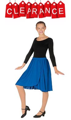 eurotard 13773  adult child polyester pull on skirt with 1 elastic waistband,dance skirt