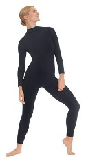 eurotard 44132 unisex mock neck long sleeve tactel microfiber unitard