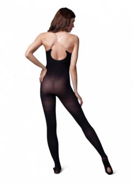 capezio 1811 ultra soft transition body tight with adjustable clear straps