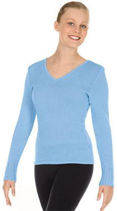 eurotard 72517 adult v neck long sleeve sweater