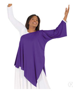 eurotard 13826 polyester praise dance asymmetrical top