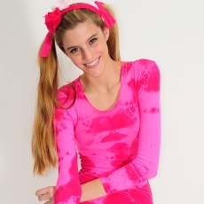 amb design 2315 long sleeve sheer top candy shop