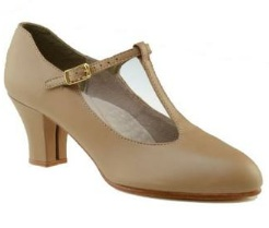 "Capezio 750 Jr. Footlight T-Strap 2"" Heel Character Shoe"