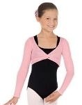 eurotard 72519c child pull over twist front crop sweater
