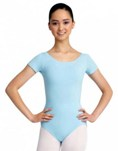 capezio cc400 adult short sleeve leotard