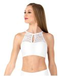 body wrappers lc9024 adult keyhole lace halter crop top