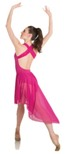 body wrappers p1220 tiler peck cross strap low back dress