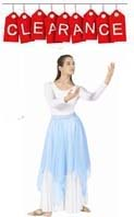 eurotard 39769 chiffon double layered handkerchief skirt / overlay