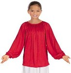 eurotard 13673c child unisex long sleeve peasant style blouse
