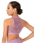 body wrappers lc1023 child lace tank crop top