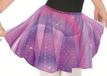 eurotard 02283 child metallic tulle pull on skirt,children dance skirt