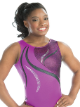 gk elite 3756 sangria mist gymnastics workout leotard