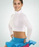 body wrappers 206 adult long sleeve turtleneck midriff pullover