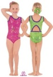 eurotard 30874 child metallic splatter gymnastics tank leotard
