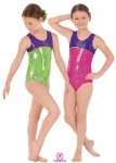 eurotard 30875 child metallic splatter two tone gymnastics tank leotard