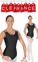 EU-17500 Eurotard Double Strap Leotard w/ Princess Piping and Scooped Back - CLEARANCE