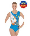 eurotard 32012 peacock gymnastics tank leotard,fashion leotard