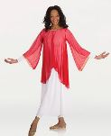 body wrappers 515 chiffon draped bell angel sleeve praise tunic