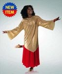 body wrappers 640 pleated gold tunic