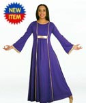 body wrappers 518 praise dance dress with princess seam panelss