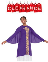 eurotard 49894 adult praise dance revival collection wing tunic