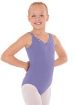 eurotard 33916c child v neck crystal tank leotard
