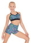 eurotard 54887c child dizzy dots crop top