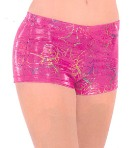 eurotard 30535c child metallic splatter shorts
