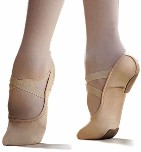 capezio 2037 hanami split sole canvas stretch ballet shoe