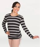 body wrappers 5170 adult wide stripe long sleeve pullover