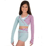 body wrappers 7591 child crop pullover
