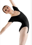 bloch l5402st basic short sleeve leotard - tall