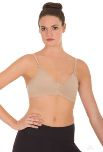 eurotard 95623 euroskins microfiber padded seamless bra with adjustable back