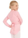 eurotard 72525c child wrap front sweater,dance knitwear,knit dancewear