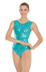 eurotard 3215a adult holographic waves leotard,fashion leotard,leotard