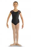 bloch cl8192 childrens mesh cap sleeve leotard
