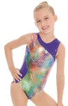 eurotard 76462 girls metallic mermaid gymnastics leotard gymnastics leotard