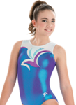 gk elite 3707 blue raspberry gymnastics tank leotard