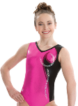 gk elite 3726 berry bombshell gymnastics tank leotard